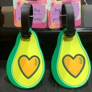 NWT Luggage bag tags in shape of avocados